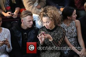 Ella Eyre , Lewi Morgan - London Fashion Week Spring/Summer 2016 - Julien Macdonald - Front Row at London Fashion...