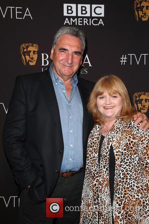 Jim Carter , Lesley Nicol - BAFTA Los Angeles TV Tea 2015 at the SLS Hotel - Arrivals at SLS...