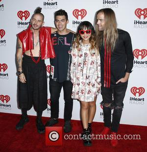 Joe Jonas , DNCE - iHeartRadio Music Festival 2015 at the MGM Grand Garden Arena - Day 2 - Arrivals...