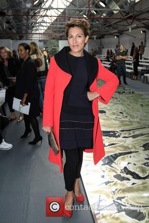 Tamsin Greig - London Fashion Week Spring/Summer 2016 - Jasper Conran - Front Row - Catwalk - Backstage at London...