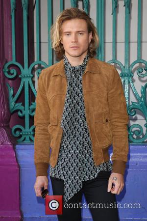 Dougie Poynter - London Fashion Week Spring/Summer 2016 - Julien Macdonald - Arrivals at London Fashion Week - London, United...