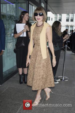 Anna Wintour - London Fashion Week Spring/Summer 2016 - Topshop Unique - Arrivals at London Fashion Week - London, United...