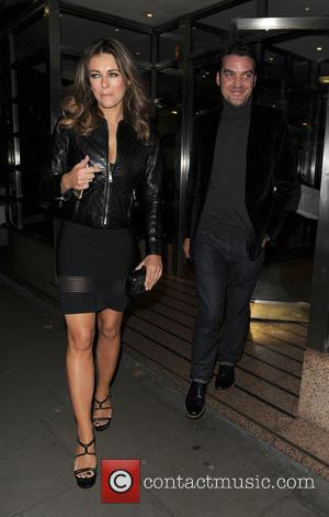 Elizabeth Hurley and Jake Maskall
