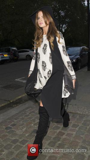 Alexandra Felstead binky - London Fashion Week Spring/Summer 2016 - Sorapol - Outside at London Fashion Week - London, United...