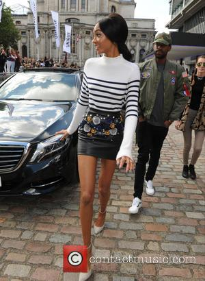 Jourdan Dunn - LFW Spring/Summer 2016 - Topshop Unique - Departures - London, United Kingdom - Sunday 20th September 2015