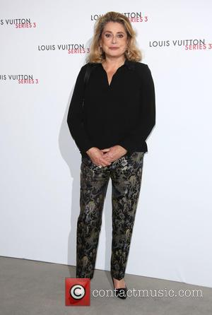 Catherine Deneuve - London Fashion Week - Louis Vuitton series 3 Exhibition Launch Party - Arrivals at London Fashion Week...