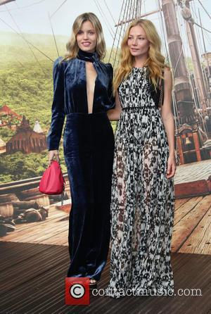 Georgia May Jagger and Clara Paget