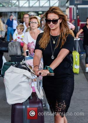Ferne Mccann - TOWIE stars arrive at Malaga airport for filming The Only Way is Marbs at Malaga Airport -...