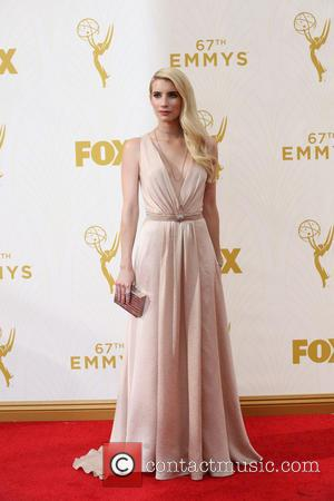 Emma Roberts - Celebrities arrive at 67th Emmys Red Carpet at Microsoft Theater. at Microsoft Theatre - Los Angeles, California,...