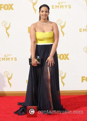 Dascha Polanco - Celebrities arrive at 67th Emmys Red Carpet at Microsoft Theater. at Microsoft Theatre - Los Angeles, California,...