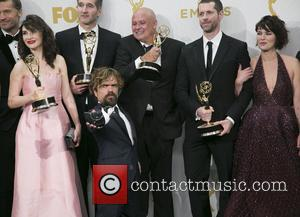 cast , crew of 'Game of Thrones' - Celebrities arrive at 67th Emmys Press Room at Microsoft Theater. at Microsoft...