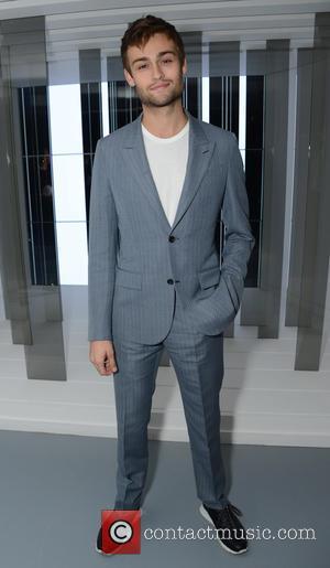 Douglas Booth - London Fashion Week - Louis Vuitton series 3 Exhibition Launch Party - Inside Arrivals at London Fashion...