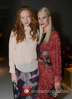 Lily Cole , Poppy Delevingne - London Fashion Week - Louis Vuitton series 3 Exhibition Launch Party - Inside Arrivals...