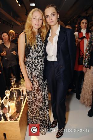 Cara Delevingne and Clara Paget