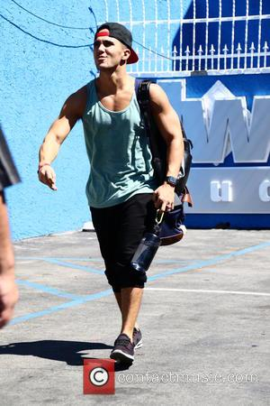 Carlos Pena - Celebrities arrive at the Dancing with the Stars rehearsal studio for Season 21 at DWTS studio -...