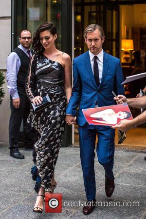 Anne Hathaway , Adam Shulman - Anne Hathaway and Adam Shulman seen leaving their New York hotel to attend the...