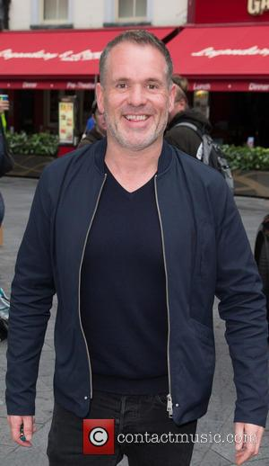 Chris Moyles - Celebrities at Capital Radio - Chris Moyles leaving the station on the first day of Radio X...