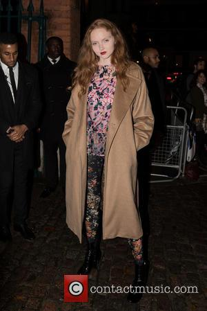 Lily Cole - LFW s/s 2016: The London Erdem Green Carpet Challenge Collection held at the Wallace Collection, arrivals. -...