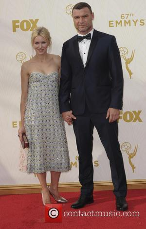 Liev Schreiber , Naomi Watts - The 67th Emmy Awards arrivals at Emmy Awards - Los Angeles, California, United States...
