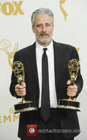 Jon Stewart - The 67th Emmy Awards Pressroom at Emmy Awards - Los Angeles, California, United States - Monday 21st...