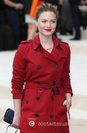 Holliday Grainger - London Fashion Week Spring/Summer 2016 - Burberry - Arrivals at London Fashion Week - London, United Kingdom...