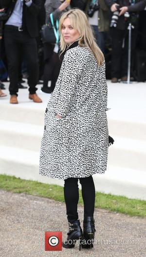 Kate Moss - London Fashion Week Spring/Summer 2016 - Burberry - Arrivals at London Fashion Week - London, United Kingdom...