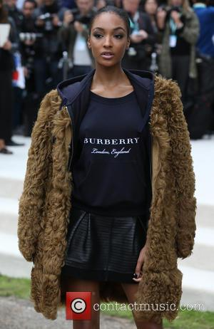 Jourdan Dunn - London Fashion Week Spring/Summer 2016 - Burberry - Arrivals at London Fashion Week - London, United Kingdom...
