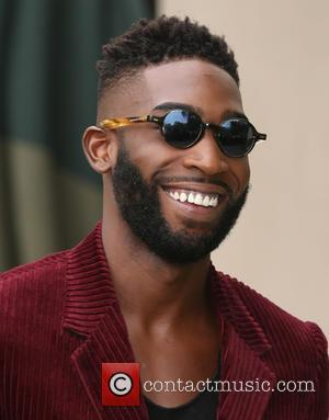 Tinie Tempah - London Fashion Week Spring/Summer 2016 - Burberry - Arrivals at London Fashion Week - London, United Kingdom...