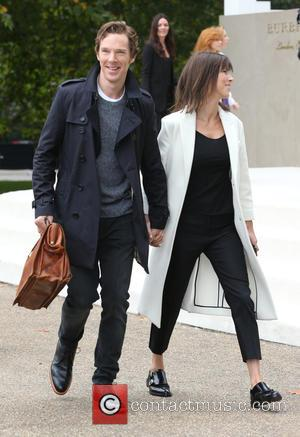 Benedict Cumberbatch , Sophie Hunter - London Fashion Week Spring/Summer 2016 - Burberry - Arrivals at London Fashion Week -...