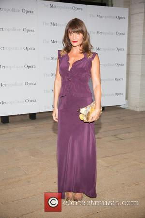 Helena Christensen - Opening night of Verdi's Otello at the Metropolitan Opera House - Arrivals at Lincoln Center - New...