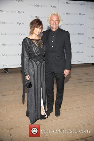 Gina Gershon , Robert Dekeyser - Opening night of Verdi's Otello at the Metropolitan Opera House - Arrivals at Lincoln...