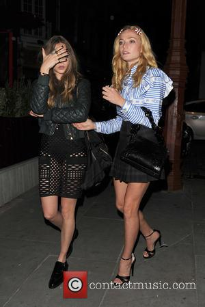 Cara Delevingne , Clara Paget - Celebrities at the Love Magazine Party, held at Lou Lou's - London, United Kingdom...