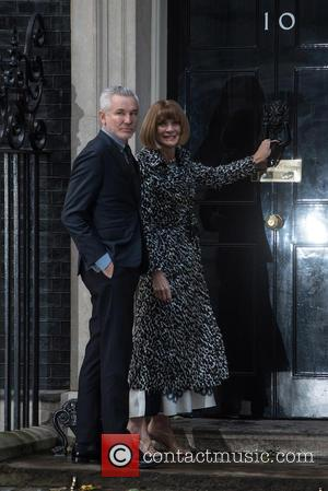 Anna Wintour - LFW s/s 2016: Downing Street Reception held at 10 Downing Street - Arrivals. - London, United Kingdom...