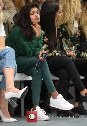 M.I.A , Mathangi Maya Arulpragasam - London Fashion Week S/S 2016 - Ashish - Front row at London Fashion Week...