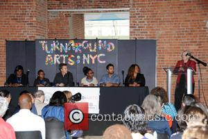 Edward Norton, Kal Penn , Carmen Farina - Turnaround Arts In NYC Schools Launch - Press Conference - Manhattan, New...