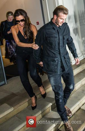 David Beckham , Victoria Beckham - Celebrites at Victoria Beckham's Private Dinner Party during London Fashion Week - Outside at...