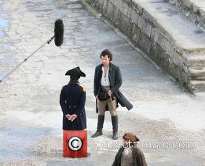 Aidan Turner - British drama television series Poldark being filmed in Charlestown in Cornwall - Cornwall, United Kingdom - Tuesday...
