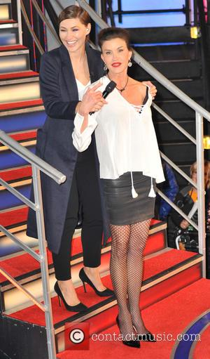 Jenna Jameson , Emma Willis - Celebrity Big Brother eviction in the Big Brother House at Elstree Studios at Elstree...