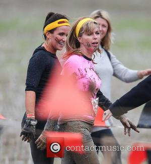 Kate Garraway , Susanna Reid - Presenters of Good Morning Britain take part in a Tough Mudder race in Hampshire...