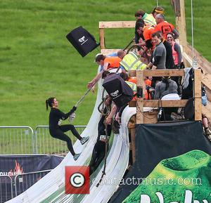 Susanna Reid - Presenters of Good Morning Britain take part in a Tough Mudder race in Hampshire - Hampshire, United...
