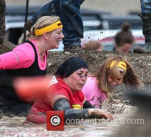 Kate Garraway - Presenters of Good Morning Britain take part in a Tough Mudder race in Hampshire - Hampshire, United...