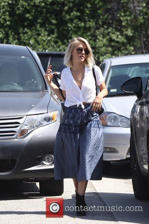 Julianne Hough - Julianne Hough wearing a low cut white blouse and long blue skirt, out shopping in Culver City...