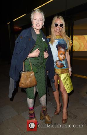 Pamela Anderson , Vivienne Westwood - Pamela Anderson at the launch party for Cool Eart at The Conservatory, Barbican Centre...