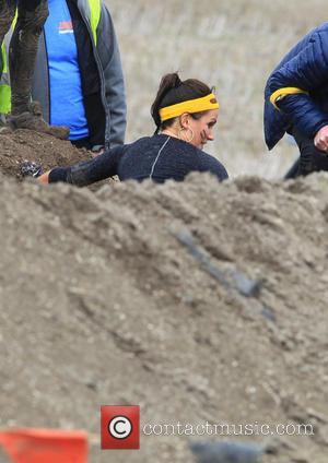 Susanna Reid - Tough Mums challenge, celebrities enter the muddy course. - Winchester, United Kingdom - Wednesday 23rd September 2015