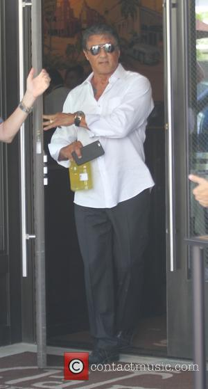 Sylvester Stallone - Sylvester Stallone promotes a drink called Recover in Beverly Hills - Los Angeles, California, United States -...