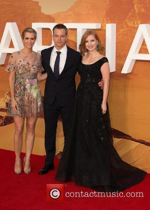 Kristen Wiig, Matt Damon , Jessica Chastain - The European Premiere of 'The Martian' held at the Odeon Leicester Square...