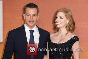 Matt Damon , Jessica Chastain - The European Premiere of 'The Martian' held at the Odeon Leicester Square - Arrivals...