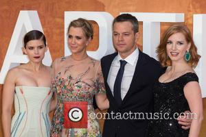 Kristen Wiig, Matt Damon, Jessica Chastain , Kate Mara - The European Premiere of 'The Martian' held at the Odeon...