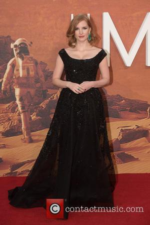 Jessica Chastain - The Martian European Premiere held at the Odeon Leicester Square - Arrivals. at Odeon Leicester Square -...