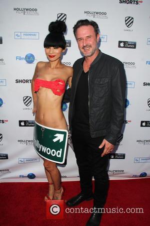 Bai Ling and David Arquette